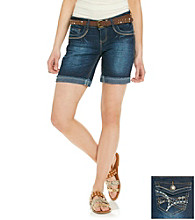 Wallflower Vintage® Juniors' Studded Flap Back Short