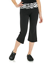 Grane® Juniors' Zebra Waist Yoga Crop