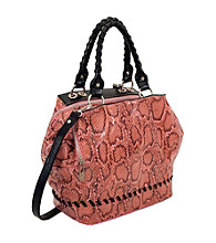 Koret™ 35th & Madison Python Power Print Triple Zip Satchel