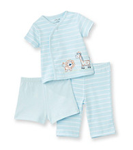 Little Me® Baby Boys' Blue 3-pc. Safari Friends Pants Set
