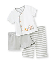 Little Me® Baby Boys' White 3-pc. Elephant Pants Set