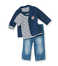 Little Me® Baby Boys' Blue 3-pc. Blazer Set