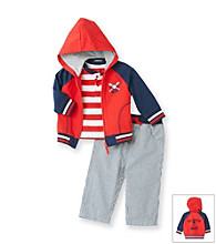 Little Me® Baby Boys' Red/Navy 3-pc. Baseball Jacket Set