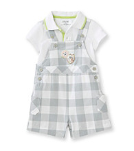 Little Me® Baby Boys' Grey Safari Fun Shortall Set