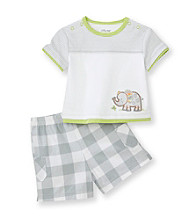 Little Me® Baby Boys' Grey Elephant Shorts Set