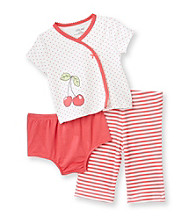 Little Me® Baby Girls' Red 3-pc. Cherry Pants Set