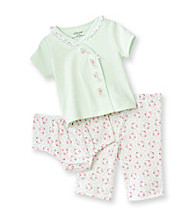 Little Me® Baby Girls' Green 3-pc. Floral Pants Set