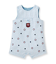 Little Me® Baby Boys' Blue Baseball Sunsuit