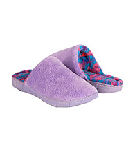 MUK LUKS® Flower Fairisle Scuff Slipper