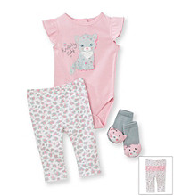 Vitamins Baby® Baby Girls' Kitty Pants Set