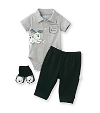 Vitamins Baby® Baby Boys' Grey 3-pc. Puppy Pants Set