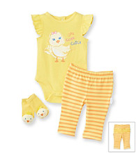 Vitamins Baby® Baby Girls' Yellow Chick Pants Set
