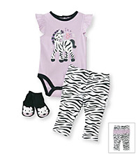 Vitamins Baby® Baby Girls' Purple Zebra Pants Set