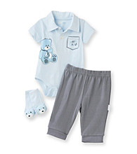 Vitamins Baby® Baby Boys' Blue 3-pc. Teddy Bear Pants Set