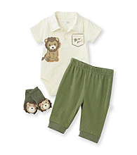 Vitamins Baby® Baby Boys' Green 3-pc. Lion Pants Set