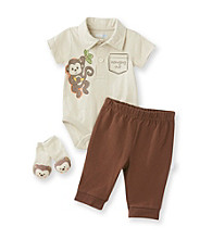 Vitamins Baby® Baby Boys' Brown 3-pc. Monkey Pants Set