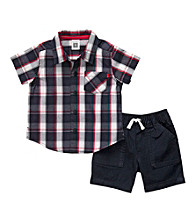 Carter's® Baby Boys' Navy/Red 2-pc. Woven Shorts Set