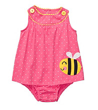 Carter's® Baby Girls' Pink Polka-Dot Bee Sunsuit