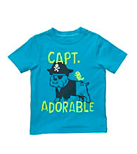 Carter's® Baby Boys' Turquoise Captain Adorable Dog Tee