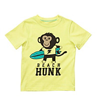 Carter's® Baby Boys' Yellow Beach Monkey Tee