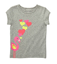 Carter's® Baby Girls' Gray Flamingo Tee
