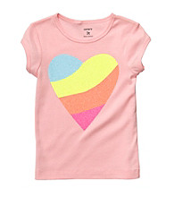 Carter's® Baby Girls' Pink Rainbow Heart Tee
