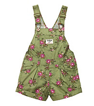 OshKosh B'Gosh® Baby Girls' Green Floral Woven Shortall
