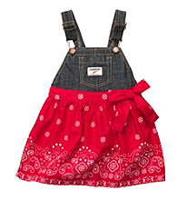 OshKosh B'Gosh® Baby Girls' Denim/Red Bandana Jumper