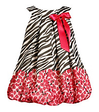 Bonnie Jean® Baby Girls' Zebra and Floral Print Bubble Dress