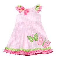 Rare Editions® Baby Girls' Pink/Green Butterfly Dress