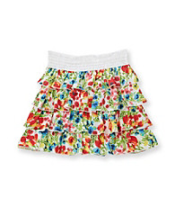 Amy Byer Girls' 7-16 Multi Floral Print Tiered Skirt