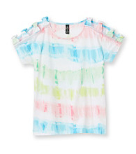 Jessica Simpson Girls' 7-16 Tie Dye Striped Hudson Top