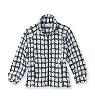Columbia Girls' 7-16 White/Black Gingham Fleece