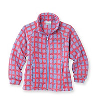 Columbia Girls' 7-16 Purple/Pink Gingham Fleece