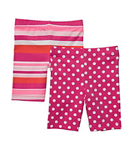 Carter's® Girls' 2T-6X Pink 2-pk. Striped and Polka-Dots Bike Shorts