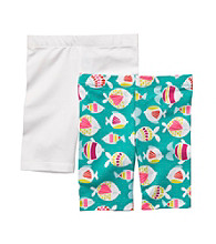 Carter's® Girls' 2T-6X White/Turquoise 2-pk. Fish Bike Shorts