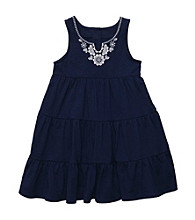 Carter's® Girls' 2T-6X Navy Tiered Dress