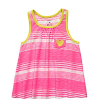 Carter's® Girls' 2T-6X Neon Pink/White Striped Swing Tank