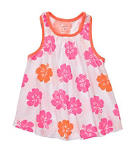 Carter's® Girls' 2T-6X Neon Pink/Orange Hibiscus Swing Tank