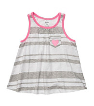 Carter's® Girls' 2T-6X Gray/White Striped Swing Tank