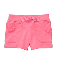 Carter's® Girls' 2T-6X Neon Pink French Terry Shorts