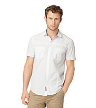 Calvin Klein Jeans® Men's Twilight Short Sleeve Multi-Skinny Stripe Button Down Shirt