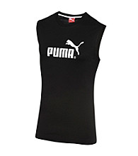 PUMA® Men's Black/White Sleeveless Tee