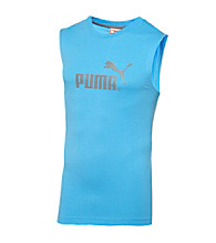 PUMA® Men's Blue Sleeveless Tee