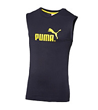 PUMA® Men's Navy/Yellow Sleeveless Tee