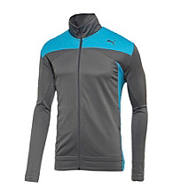 PUMA® Men's Grey Colorblock Mesh Track Jacket