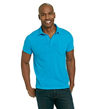 Calvin Klein Jeans® Men's Hawaiian Blue Solid Slub Polo