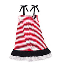 OshKosh B'Gosh® Girls' 2T-4T Red/White Striped Knit Dress