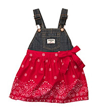 OshKosh B'Gosh® Girls' 2T-4T Denim/Red Bandana Jumper