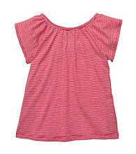 OshKosh B'Gosh® Girls' 2T-4T Red/White Striped Flutter Sleeve Tee